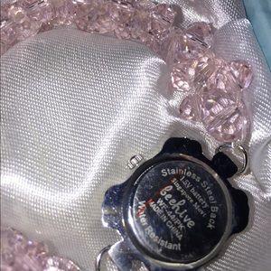 Swarovski Jewelry - Pink Swarovski Crystals With Charm analog watch